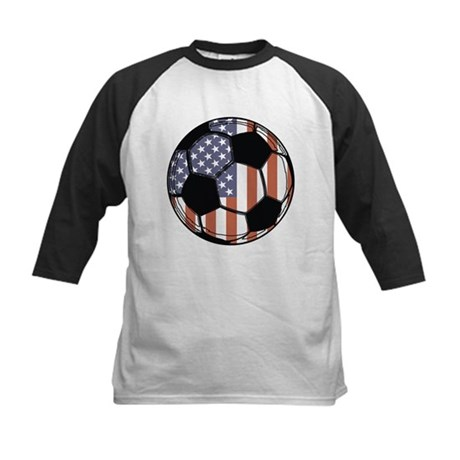 Soccer Ball USA Kids Baseball Jersey