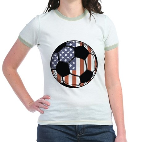 Soccer Ball USA Jr. Ringer T-Shirt