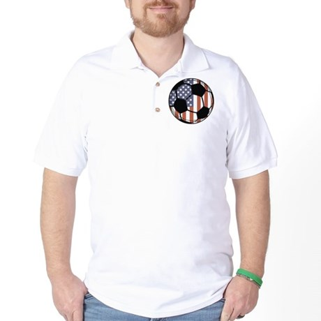 Soccer Ball USA Golf Shirt