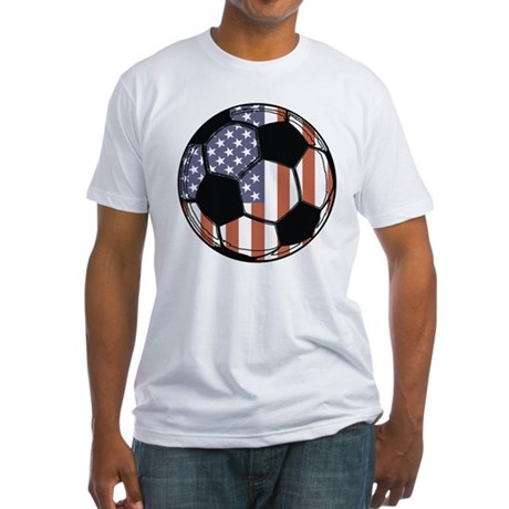 Soccer Ball USA Fitted T-Shirt