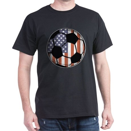 Soccer Ball USA Dark T-Shirt
