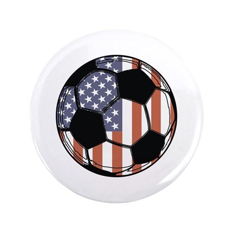 "Soccer Ball USA 3.5"" Button"