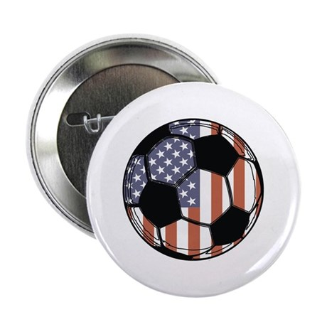 "Soccer Ball USA 2.25"" Button"
