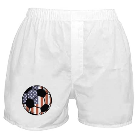 Soccer Ball USA Boxer Shorts