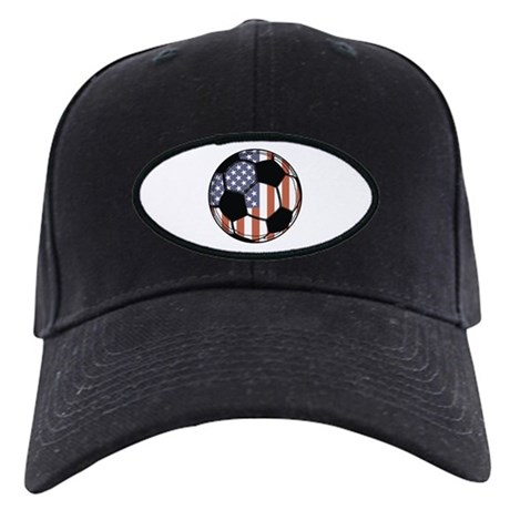 Soccer Ball USA Black Cap