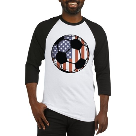 Soccer Ball USA Baseball Jersey