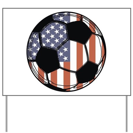 Soccer Ball USA Yard Sign