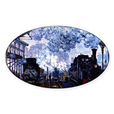 Station Saint Lazare Oval Decal