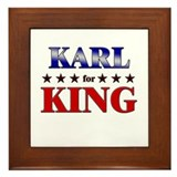KARL for king Framed Tile