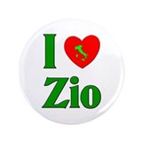 "I Love (heart) Zio 3.5"" Button"