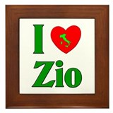 I Love (heart) Zio Framed Tile