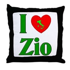 I Love (heart) Zio Throw Pillow