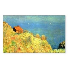 Hut of Douaniers by Monet Rectangle Decal