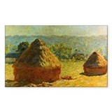 Haystacks by Monet Rectangle Decal