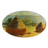 Haystacks by Monet Oval Decal