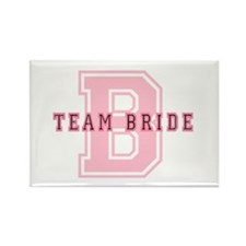 Team Bride (Pink) Rectangle Magnet (100 pack)