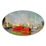 Argenteuil by Monet Oval Decal
