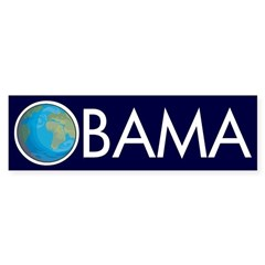 Earth O: Obama for the Earth car sticker