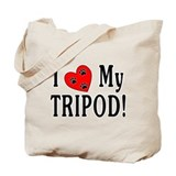 I Heart My Tripod (2-Sided) Tote Bag