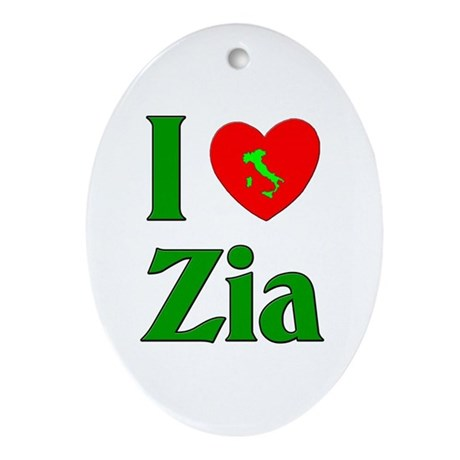 I (heart) Love Zia Oval Ornament