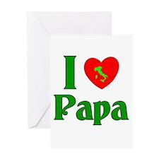 I (heart) Love Papa Greeting Card