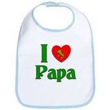 I (heart) Love Papa Bib