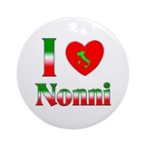 I Love (heart) Nonni Ornament (Round)