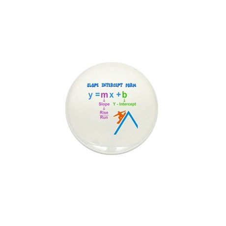 Slope Intercept Form Mini Button (100 pack)