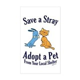 Save a Stray Rectangle Decal