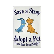 Save a Stray Rectangle Magnet (100 pack)