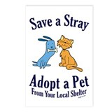 Save a Stray Postcards (Package of 8)