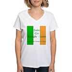 Bragh-Less Women's V-Neck T-Shirt