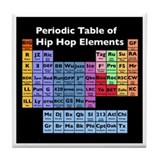 Hip Hop Table of Elements Tile Coaster