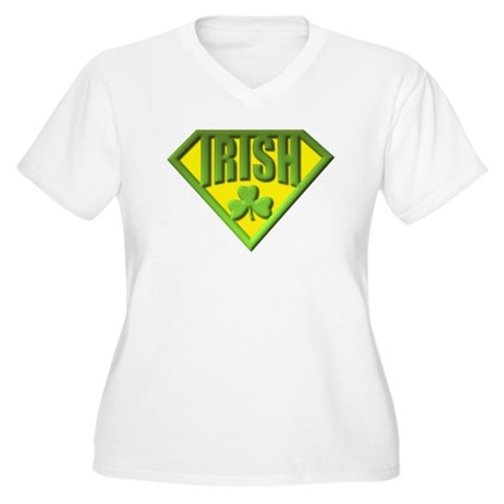 Super Irish Women's Plus Size V-Neck T-Shirt