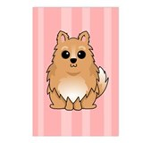 Pomeranian on Pink Postcards (Package of 8)