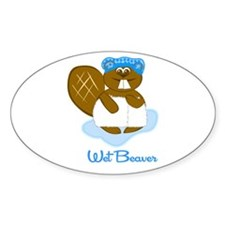 Wet Beaver Oval Decal