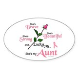 Lucky Me 2 (Aunt BC) Oval Decal