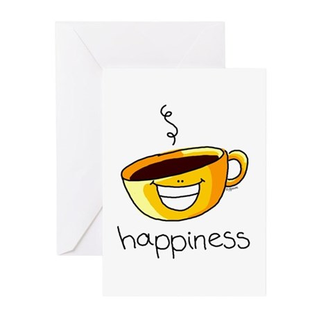 Happiness is Coffee Greeting Cards (Pk of 10)