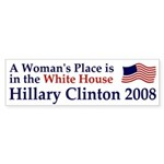 A Woman's Place Clinton Car Sticker