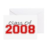 Class Of 2008 (Red Varsity) Greeting Cards (Pk of