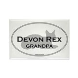 Devon Rex Grandpa Rectangle Magnet