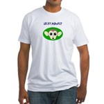 lucky monkey Fitted T-Shirt