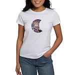 monkeys moon Women's T-Shirt love monkeys on back