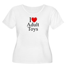 """I Love (Heart) Adult Toys"" T-Shirt"