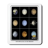 9 Planets of the Solar System Mousepad
