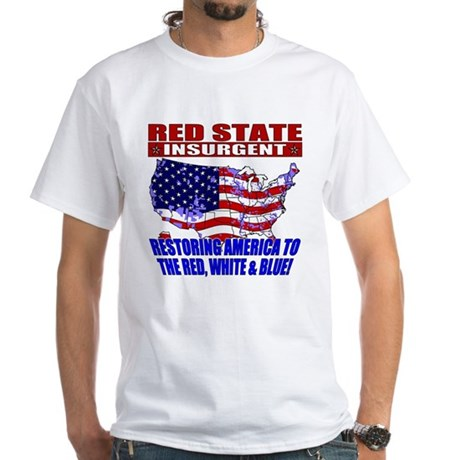 Red State Insurgent White T-Shirt