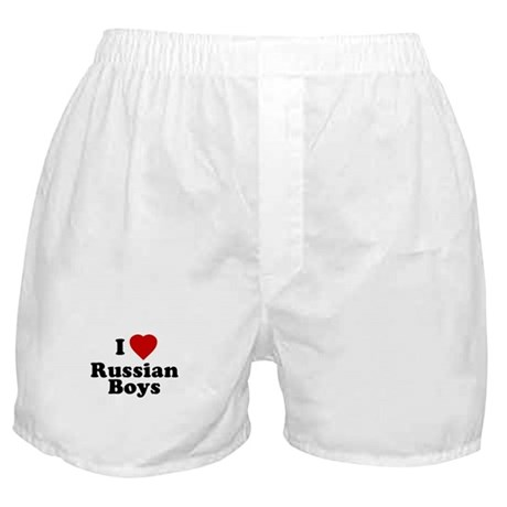 I Love Russian Boys Boxer Shorts