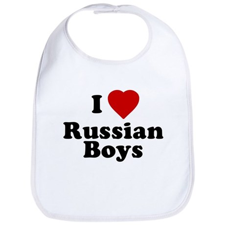 I Love Russian Boys Bib