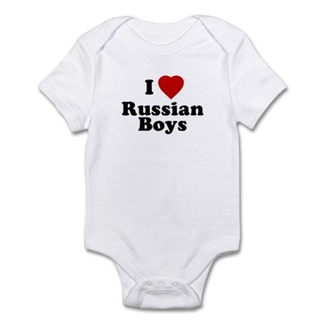 I Love Russian Boys Infant Creeper