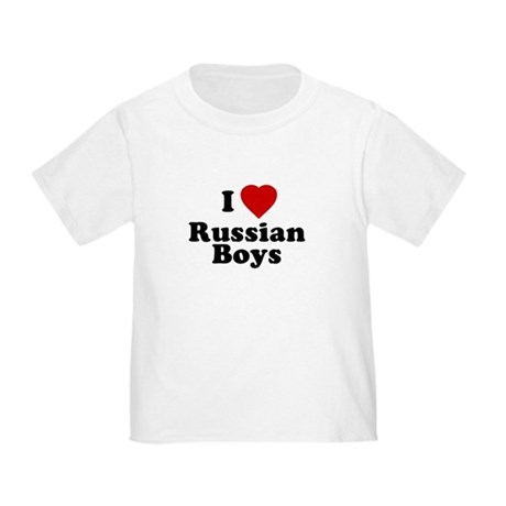 I Love Russian Boys Toddler T-Shirt